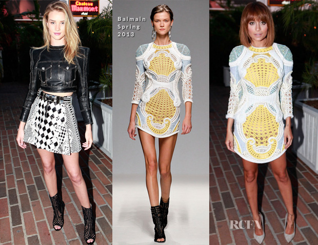 Rosie Huntington-Whiteley & Nicole Richie In Balmain - Balmain LA Dinner Party