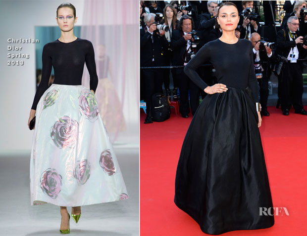 Samantha Barks In Christian Dior -  'Le Passe' Cannes Film Festival Premiere