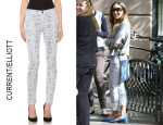 Sarah Jessica Parker's Current/Elliott The Ankle Skinny Crochet Jeans