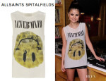 Selena Gomez' All Saints Smiley Silk Vest