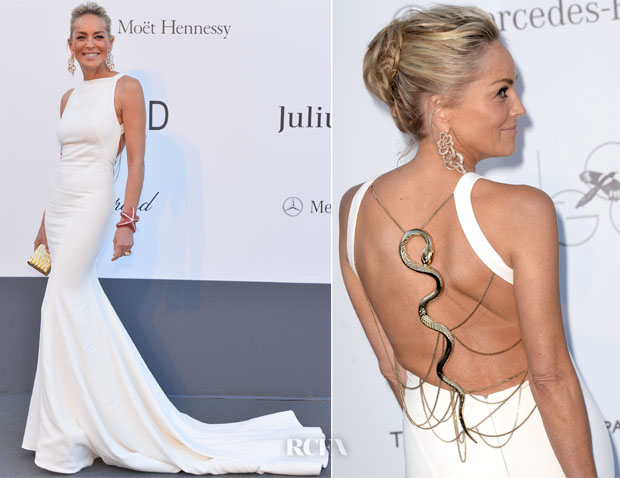 Sharon Stone In Roberto Cavalli - amfAR Cinema Against AIDS Gala