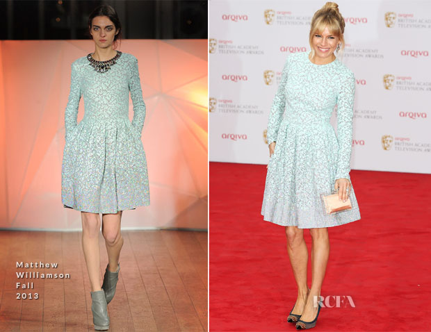 Sienna Miller In Matthew Williamson - British Academy Television Awards 2013