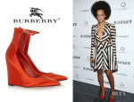 Solange Knowles' Burberry Prorsum 'Crayford' Wedges