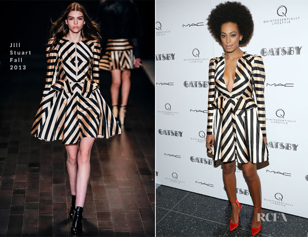 Solange Knowles In Jill Stuart - 'The Great Gatsby' Pre-Met Ball Special Screening