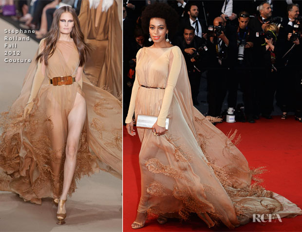 Solange Knowles In Stéphane Rolland Couture - 'The Great Gatsby' Premiere & Cannes Film Festival Opening Ceremony