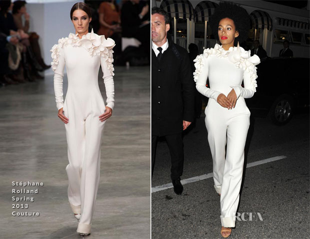 Solange Knowles In Stéphane Rolland Couture - Vanity Fair and Chanel Party