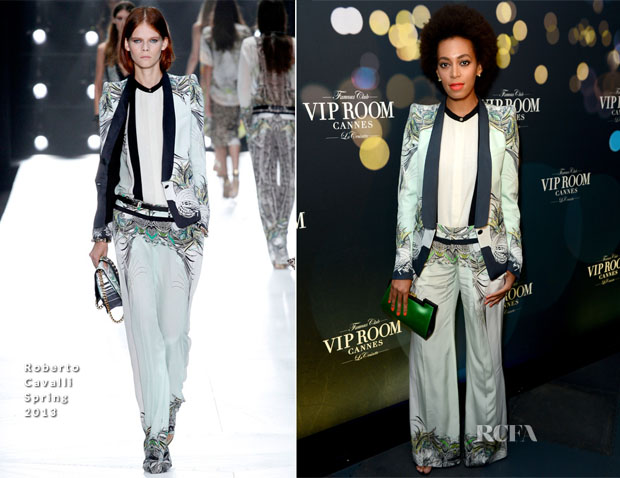 Solange Knowles in Roberto Cavalli – Belvedere Vodka 'Walks Its Way' Run DMC Party