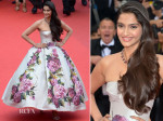 Sonam Kapoor In Dolce & Gabbana - 'Jeune & Jolie' Cannes Film Festival Premiere