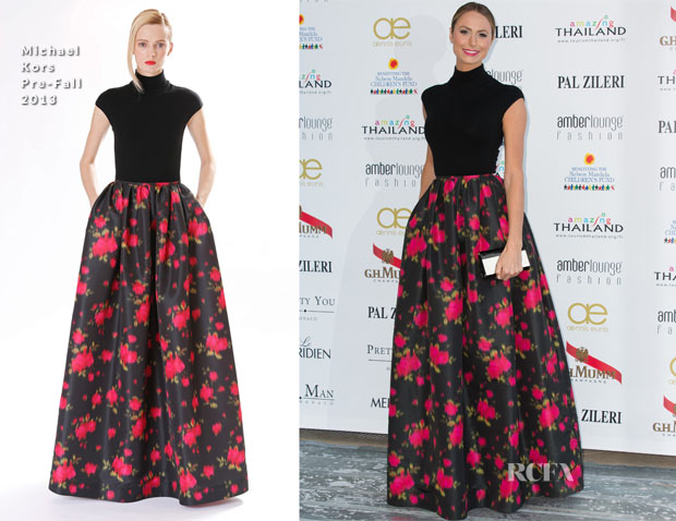 Stacy Keibler In Michael Kors - Amber Lounge Fashion Monaco 2013