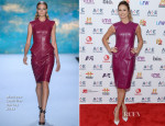 Stacy Keibler In Monique Lhuillier - 2013 A&E Networks Upfront Event