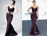 Stacy Keibler In Zac Posen - amfAR Cinema Against AIDS Gala