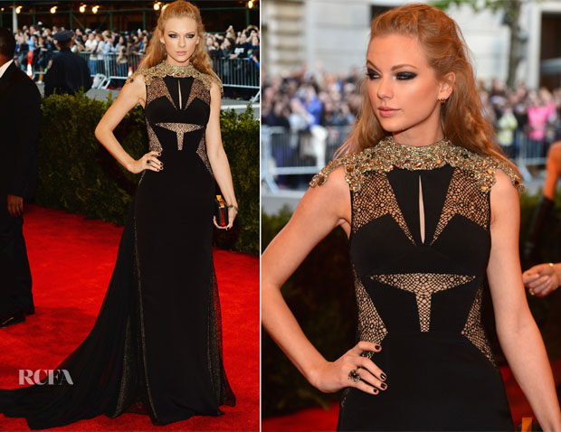 Taylor Swift In J Mendel - 2013 Met Gala