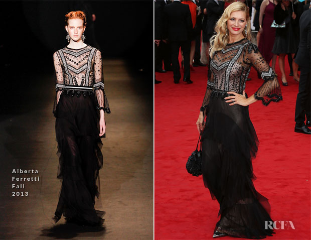 Tess Daley In Alberta Ferretti - British Academy Television Awards 2013