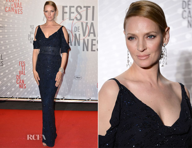 Uma Thurman In Giorgio Armani - Palme D'Or Winners Dinner