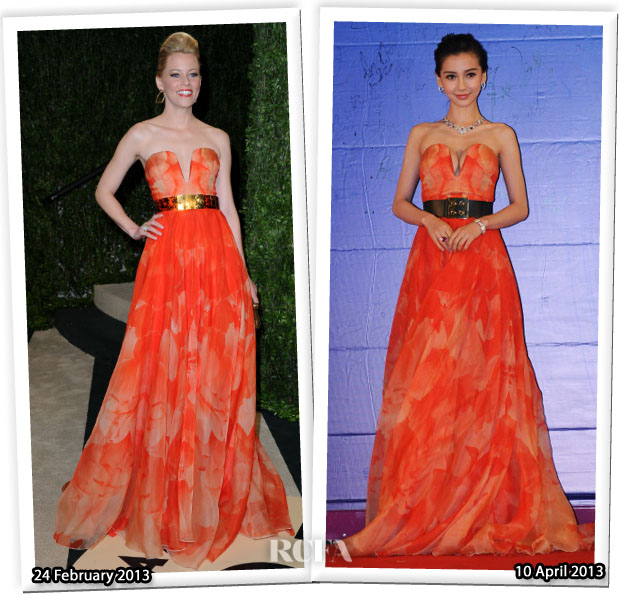 Who Wore Alexander McQueen Better Elizabeth Banks or Angelababy