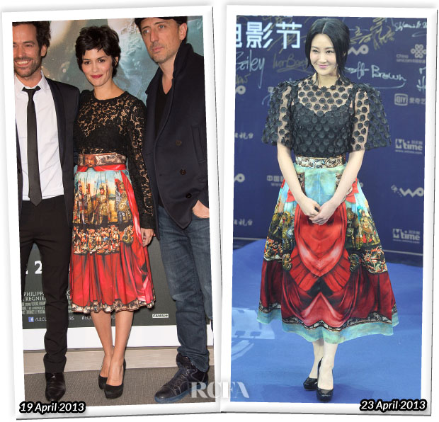 Who Wore Dolce & Gabbana Better Audrey Tautou or Lin Peng