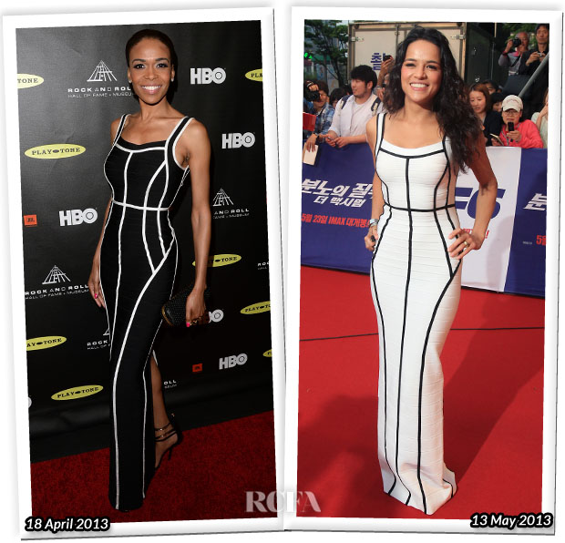 Who Wore Herve Leger Better Michelle Williams or Michelle Rodriguez