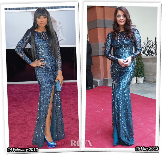 Who Wore Roberto Cavalli Better Jennifer Hudson or Aishwarya Rai