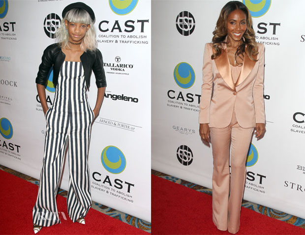 Willow Smith In Chanel & Jada Pinkett Smith In Alexander McQueen - 15th Annual From Slavery to Freedom Gala
