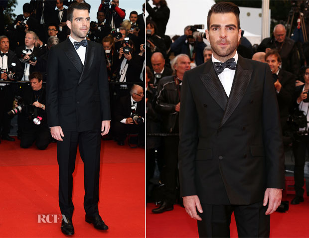 Zachary Quinto In Alexander McQueen - 'All Is Lost' Cannes Film Festival Premiere