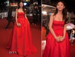 Zhang Yuqi In Alexander McQueen - 'Soshite Chichi Ni Naru' Cannes Film Festival Premiere