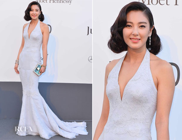 Zhang Yuqi In Roberto Cavalli - amfAR Cinema Against AIDS Gala