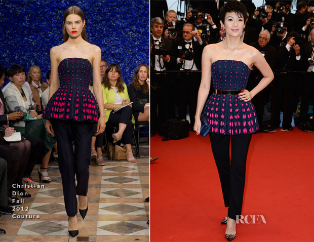 Zhang Ziyi In Christian Dior Couture - 'The Great Gatsby' Premiere & Cannes Film Festival Opening Ceremony