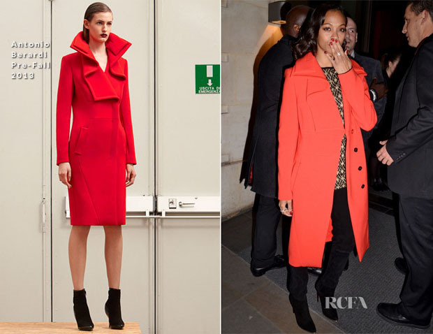 Zoe Saldana In Antonio Berardi - 'Star Trek Into The Darkness' London Promo Tour