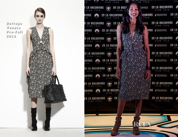 Zoe Saldana In Bottega Veneta - 'Star Trek Into The Darkness' Mexico Premiere