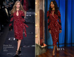 Zoe Saldana In Diane von Furstenberg - 'Late Night with Jimmy Fallon'
