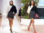 Zoe Saldana In Emanuel Ungaro - 'Blood Ties' Cannes Film Festival Photocall