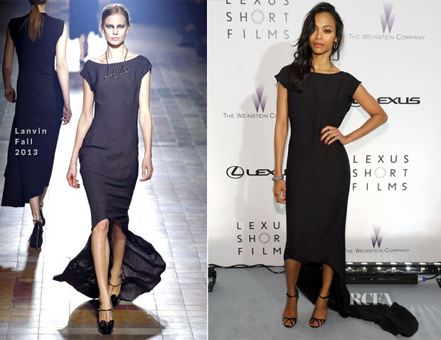 Zoe Saldana In Lanvin - The Weinstein Company Party