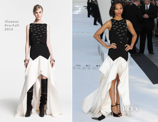 Zoe Saldana In Vionnet - 'Star Trek Into The Darkness' London Premiere
