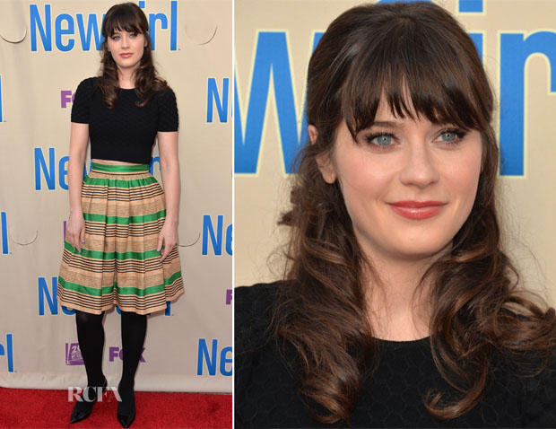 Zooey Deschanel In Dolce & Gabbana - Screening And Q&A For Fox's 'New Girl'