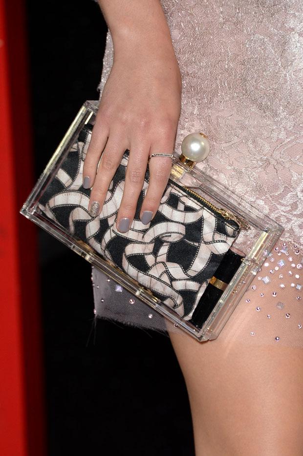 AnnaSophia Robb's Charlotte Olympia clutch