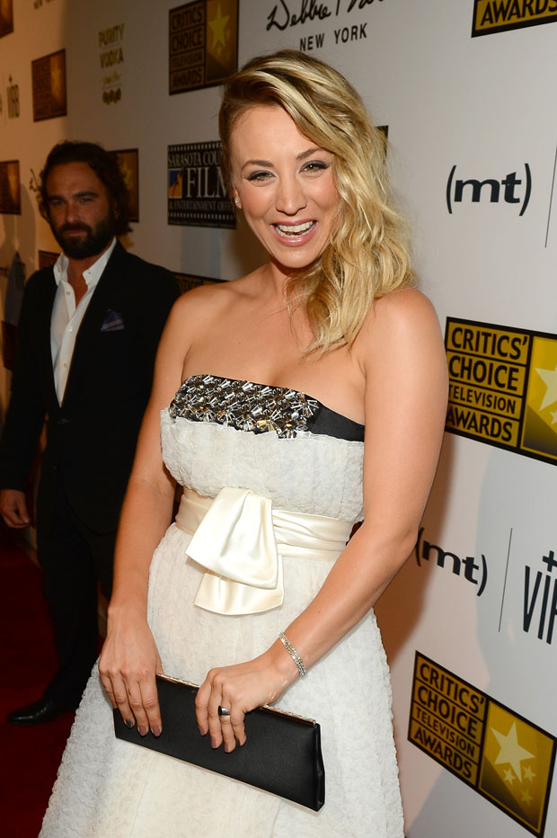 Kaley Cuoco in Paule Ka Black Carpet Collection