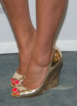Shay Mitchell's Jimmy Choo 'Biel' wedges