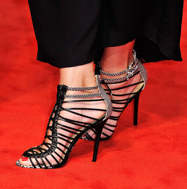 Sandra Bullock's strappy sandals