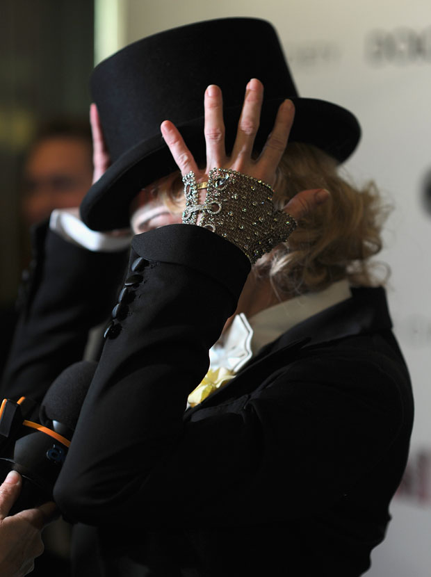Madonna in Tom Ford with Jacob & Co glove