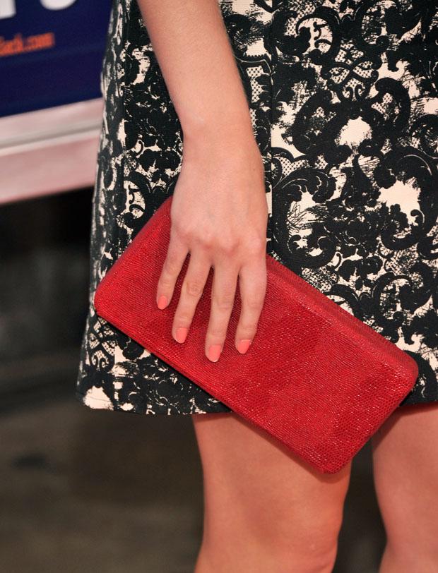 AnnaSophia Robb's Lauren Merkin clutch