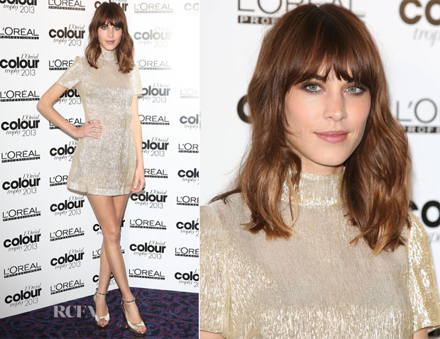 Alexa Chung In Bella Freud - L'Oreal Colour Trophy Awards 2013