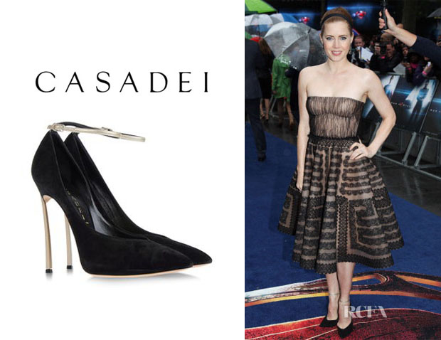 Amy Adams' Casadei Ankle-Strap Pumps