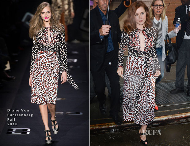 Amy Adams In Diane Von Furstenberg - Out In New York City