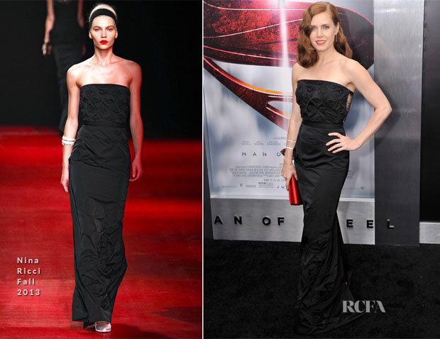 Amy Adams In Nina Ricci - 'Man of Steel' New York Premiere
