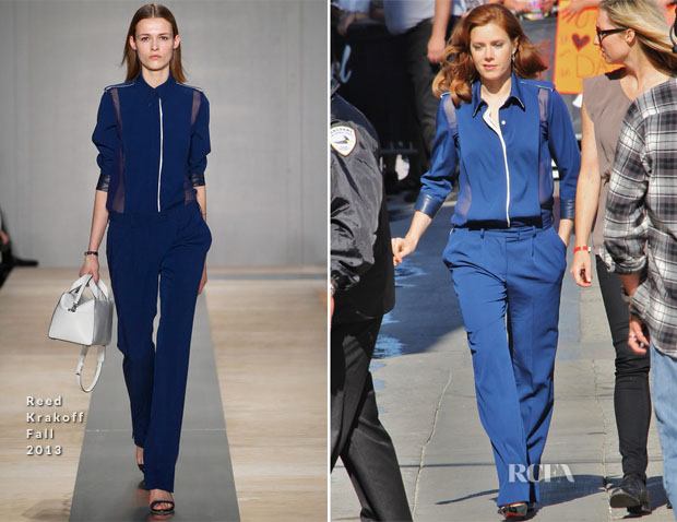 Amy Adams In Reed Krakoff -  Jimmy Kimmel Live!