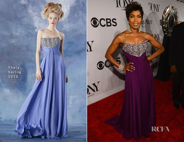 Angela Bassett In Theia - 2013 Tony Awards