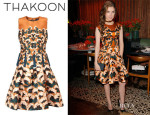 Anna Kendrick's Thakoon Floral Print Full Skirt Dress