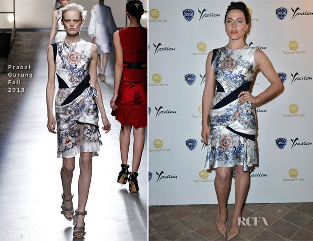 Antje Traue In Prabal Gurung - 'Man of Steel' Taormina Filmfest 2013 Premiere