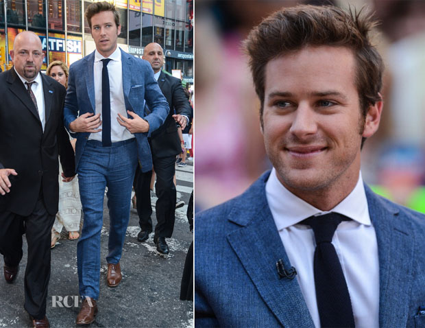 Armie Hammer In Gant - Good Morning America & The Today Show
