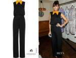 Ashley Madekwe's Roksanda Ilincic Oste Crepe Jumpsuit